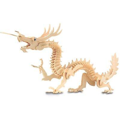 Dragon Woodcraft Construction Kit - Fsc Kids Wooden Model Game Building Puzzle