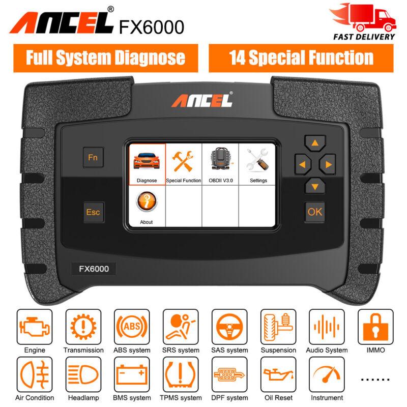 ANCEL FX6000 OBD2 Scanner Full system ABS SRS SAS EPB DPF Oil TPMS AT Diagnostic
