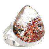 Lodolite Scenic Quartz 925 Silver Ring s.8 Jewelry RR5770