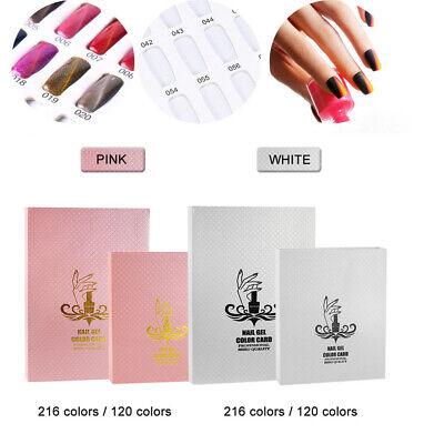 216/120 Nails Display Gel Farbkarte Buch für Präsentations UV Gel Nagellac DHL