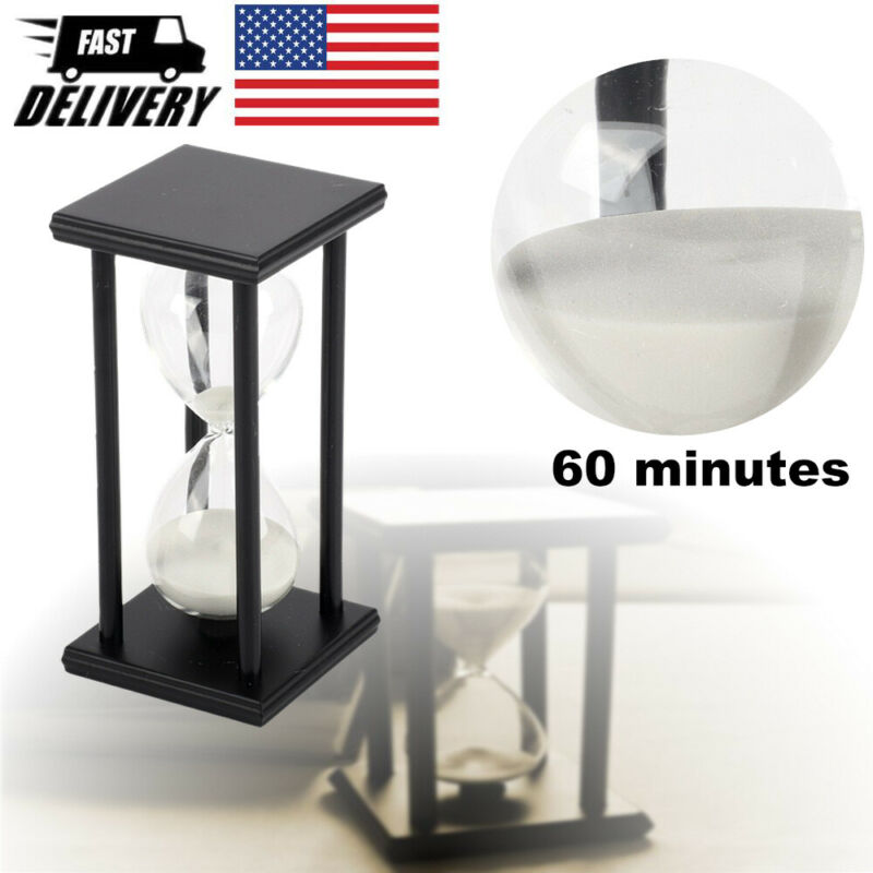 60min Hourglass Sand Timer Wooden Hour Glass Sand Clock Home