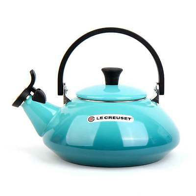 Le Creuset Zen Steel Enameled Kettle Teapot 1.5L Caribbean Blue