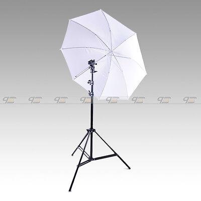 Photo Studio Light Stand White Umbrella Flash Mount  Speedlite set kit