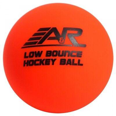 A&R Roller Street Floor Hockey Low Bounce Ball, Orange, Warm Temperature Use