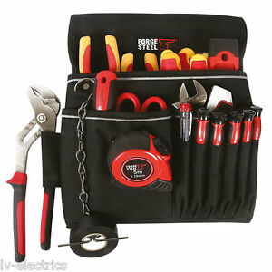 FORGE STEEL STORAGE TOOL BAG CASE ELECTRICIANS POUCH HOLDER
