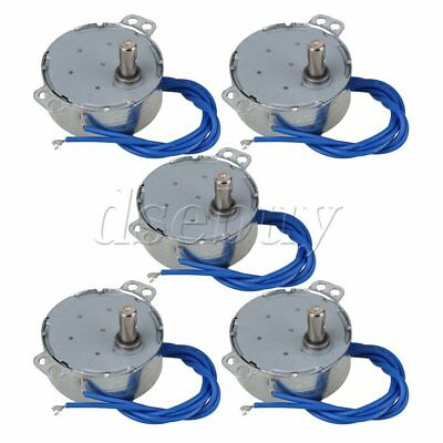 5piece Turntable Synchronous Synchron Motor 5060hz Ac110-127v 4w 5-6 Rpm