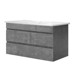 Bathroom Vanity Cabinet Basin Unit Sink Storage Wall Mounted Cement Kings Beach Caloundra Area Preview