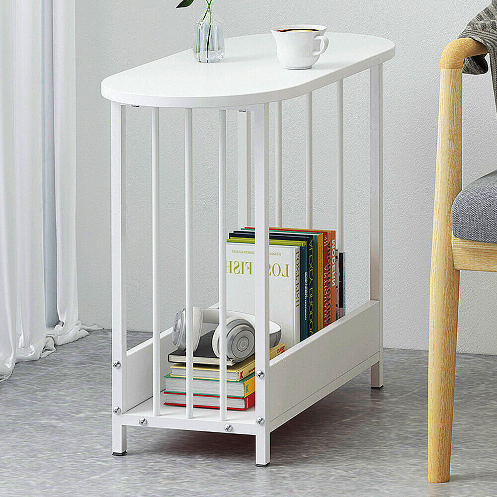 Simple Side Table End Table Sofa Bed Side Table for Small Spaces Home White New
