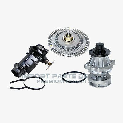 BMW Water Pump + Fan Clutch + Thermostat Assembly Premium Quality 799/302/227