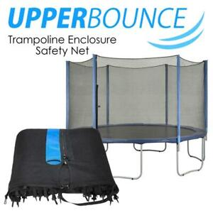 Upper Bounce UBNET-12-6-OS Trampoline Enclosure Safety Net Fits for 12-Feet Round Frame Using 6 Straight Poles Condti...