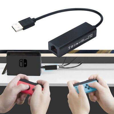 1000Mps USB2.0 to RJ45 Lan Ethernet Adapter Hub Network Card for Nintendo Switch