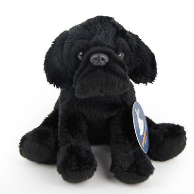 Stofftier kleiner, schwarzer Mops, Hund Plüschtier (H. ca. 11 cm) Bulldogge ()