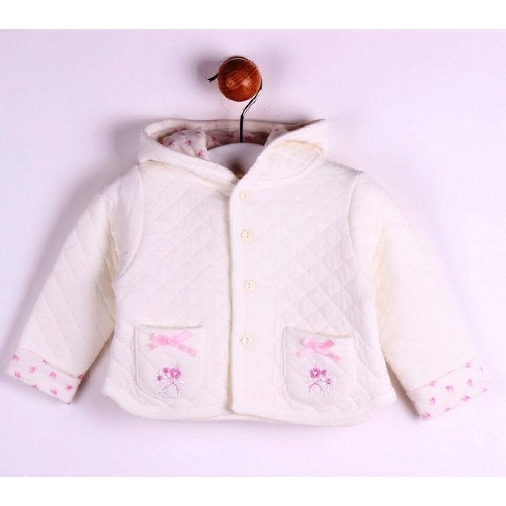 Baby Jacke Weiß mit Kaputze für Herbst/Frühling Mode aus Spanien