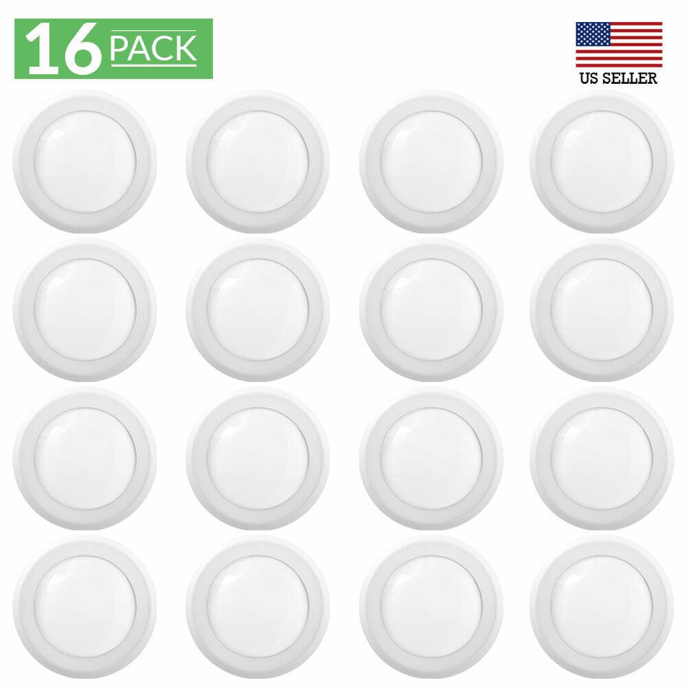 Sunco Lighting 16 Pack 5 Inch / 6 Inch Flush Mount Disk LED