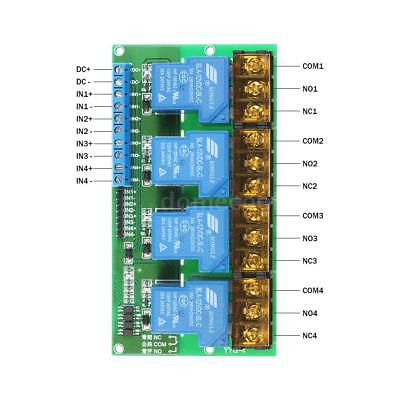 4-channel Dc 12v Volt 30a Relay Module Control Board Optocoupler Isolation New