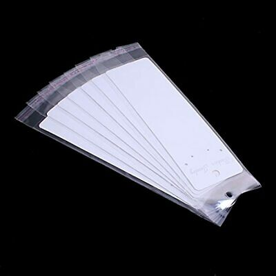 30 Pack Fashion Jewelry Display Cards With Self Adhesive Bags Necklace Arts