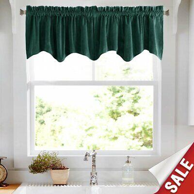 jinchan Velvet Curtains Half Blackout Weave-Shape Valance, R