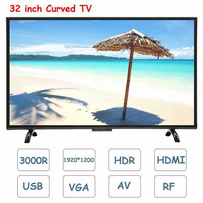 32'' Curved Widescreen 1800R Smart TV Television HDR 1366*768 HDMI USB VGA AV