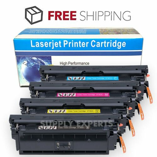 4-Pack Toner Set for HP 508A Color LaserJet M552dn M553n MFP M577 M577dn CF360A