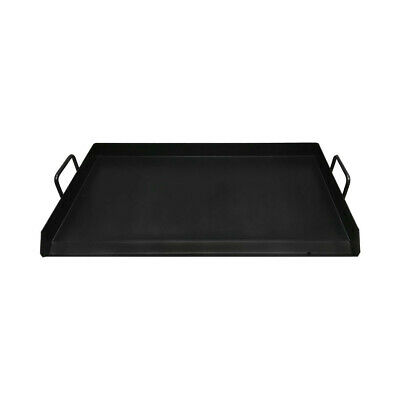 32 Black Steel Non Stick Coating Flat Top Griddle Grill Plancha Cookware