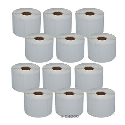 12 Roll 2.25x1.25 Direct Thermal Barcode Label Zebra Lp2824 Tlp2824 Lp2844