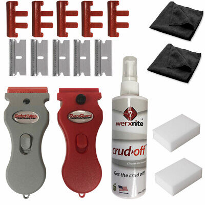 Werxrite Surface Cleaning Kit - Cooktop Stove Glass Ceramic Windows Tile Metal Cleaning Ceramic Tile