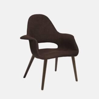 CLEARANCE  - Replica Eames Organic Chair. Dark Brown