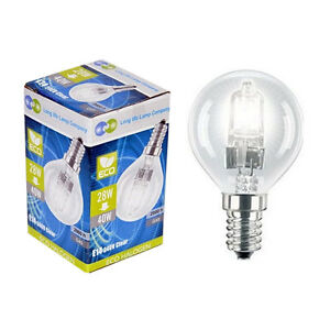 5 Eco Halogen Energy Saving Golf Balls Light Bulb 28w =40w ...