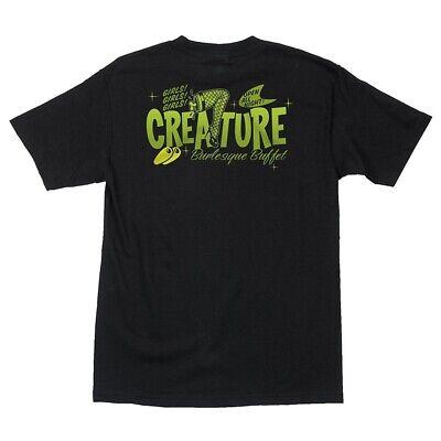 29a20fc4 Creature BURLESQUE BUFFET Skateboard T Shirt BLACK XL