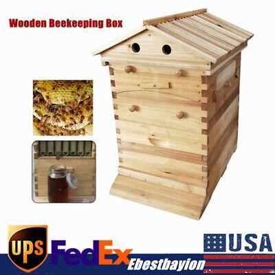 Beekeper Honey Bee Hive House Brood Box Set Wooden Box For Auto Honey Frames