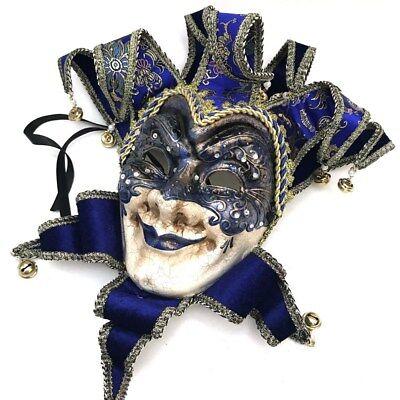 Mens Mardi Gras Carnival Masquerade Costume Jester Joker Full Mask Wear and Deco - Mardi Gras Masks And Costumes