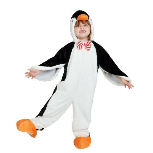Toddler Plush Penguin Jumpsuit Simple Zip Costume - Wondershop, Black/White 4-5T
