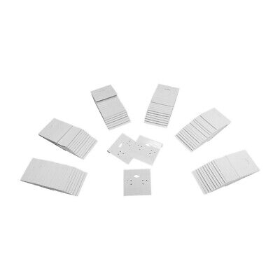 100pc 2 X 2 White Plastic Earring Card Display Hang Jewelry Plain Cards Retail