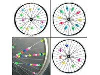 36Pcs Cute Cartoon Style Colorful Bicycle Wheel Plastic Spoke Beads Bike Decor