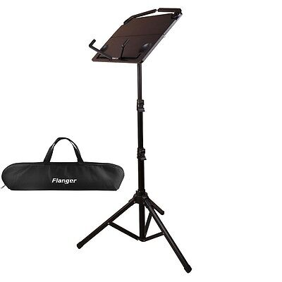 Folding Music Conductor Sheet Metal Tripod Stand Holder Adjustable Height Black
