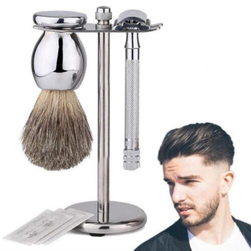 Deluxe Natural Stone Base Face Shaving Brush Stand Holder for Razor & Brush New Health & Beauty