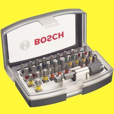 BOSCH Bit-Set 32 tlg inkl Bit-Halter Schwarz 2607017319