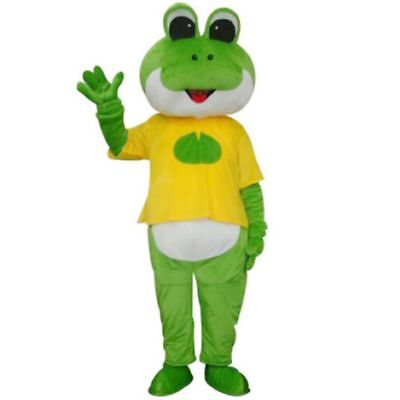 Fancytrader Cartoon Frog Mascot Costume Fancy Dress Adult Size Outfit Suit Party