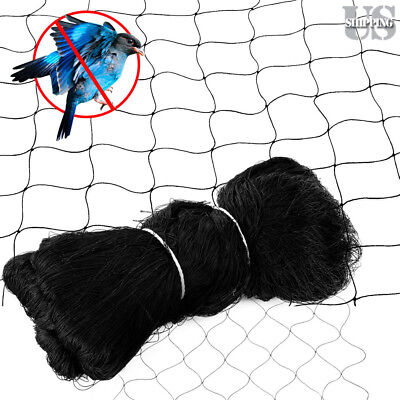 "25 X 50FT Anti Bird Netting Garden Poultry Aviary Game Net Nylon 2.4"" Mesh New"