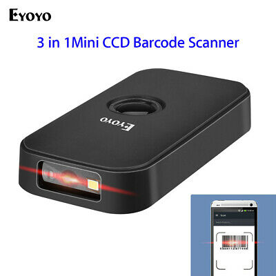 Eyoyo Bluetooth & 2.4G Wireless & USB Wired Barcode Scanner for Phone Tablets PC