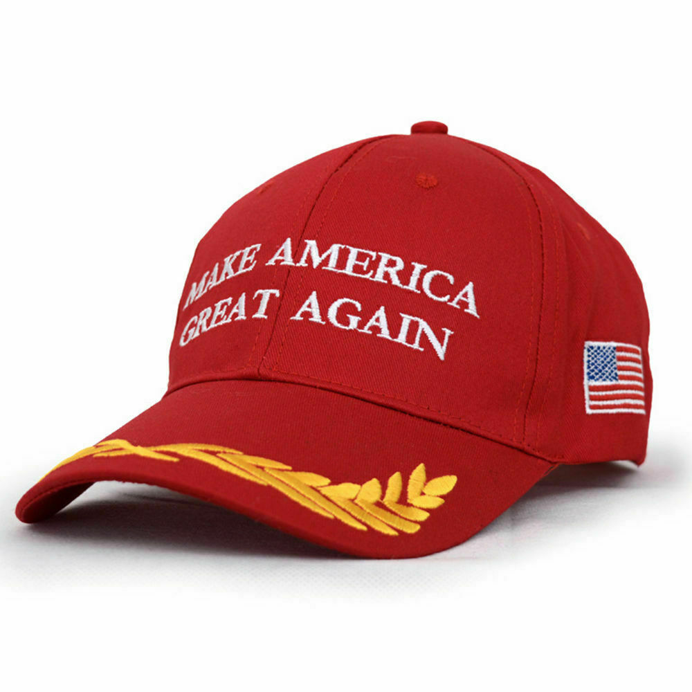 Donald Trump MAGA Hat Make America Great Again Hat US President Cap Red Olive Collectibles
