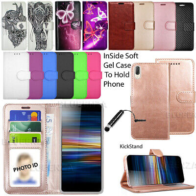 For Sony Xperia L1 L2 L3  Phone Case Wallet Leather Flip Book Cover Cute Stylish