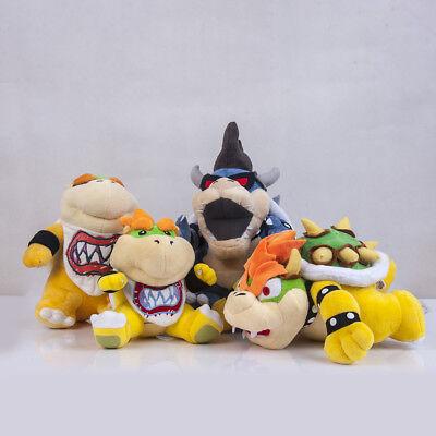 Super Mario Bowser's Castle Dark Bowser Kuba & Bowser Jr Plush Doll Stuffed Toy ](Bowser Jr S Halloween)