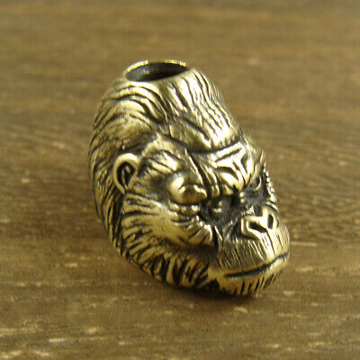 Solid Brass Gorilla Lanyard Bead Knife Tool Paracord Beads -