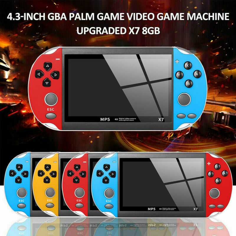 4.3'' Retro Handheld Game Console Portable Video Game Built-in 10000+ Games 8GB