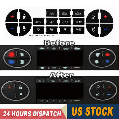 AC Dash Button Repair Kit Decal Stickers Replacement for Chevrolet GMC Tahoe - Gmc Tahoe Hybrid