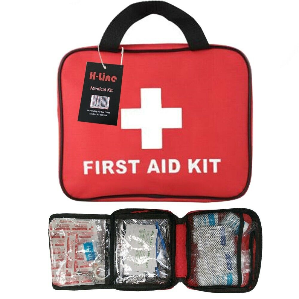 cars - 108 PIECE FIRST AID KIT MEDICAL EMERGENCY TRAVEL HOME CAR TAXI WORK 1ST AID BAG