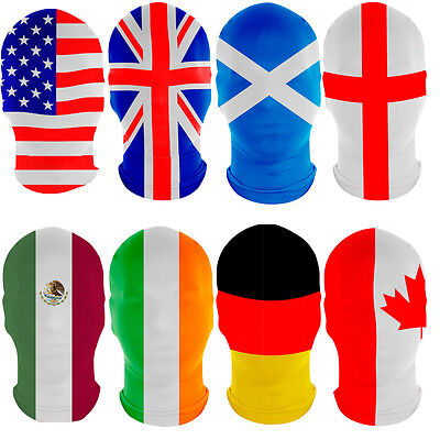 SALE! Flag Morphmask for Fancy Dress Sport Team Event Country Mask by Morphsuit