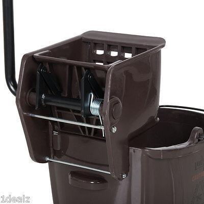 Industrial Janitorial Brown 36 Quart Mop Bucket Wringer Combo 5 Bonus
