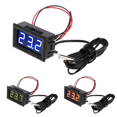 Probe Digital Thermometer Car Aquarium Refrigerator -50-110 C 12v Led Display